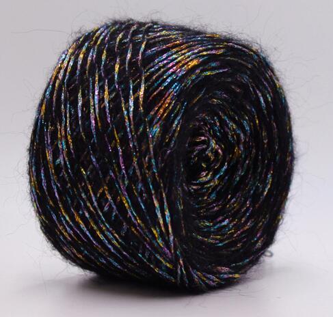 50 г/лот, шерстяная металлическая пряжа для ручного вязания, мохер, вязаная пряжа для модных трикотажных изделий, свитер laine a tricoter