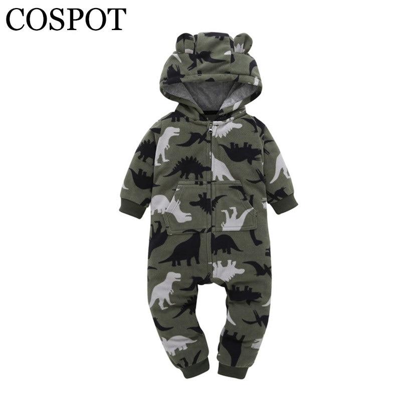 2019 venta urgente mono con capucha de bebé de moda de manga larga de Primavera de lana para bebés niñas bebé, niño pequeño mono monos 42