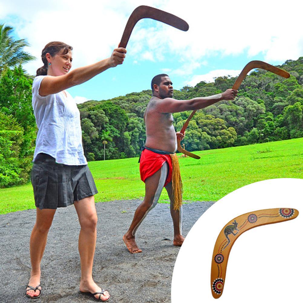 1 Boomerang de madera con forma de V clásica, disco volador, platillo volador, juguetes populares para niños, juguetes al aire libre