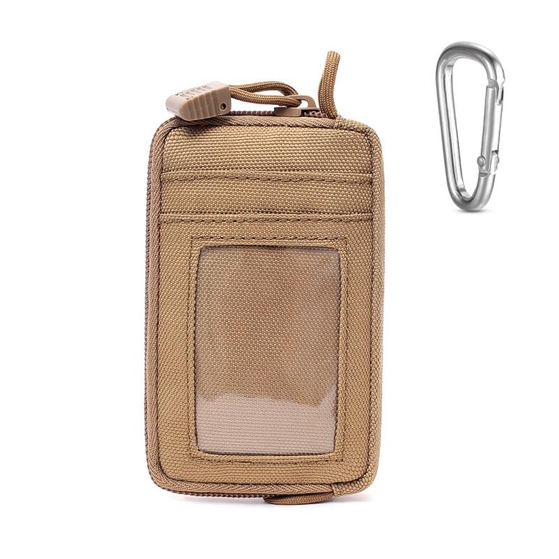 Bolsa EDC a prueba de agua, monedero táctico con cambio de llave, cartera, Kit de viaje, monedero con ranuras para tarjetas, paquete de cremalleras, riñonera, ropa deportiva