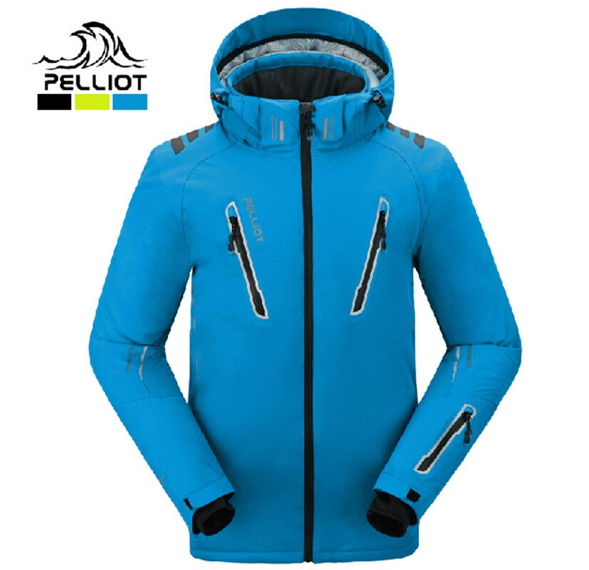 ¡El auténtico! pelliot Hombre Trajes de esquí chaqueta de los hombres a prueba de agua transpirable térmica de algodón-acolchado snowboard outcoat