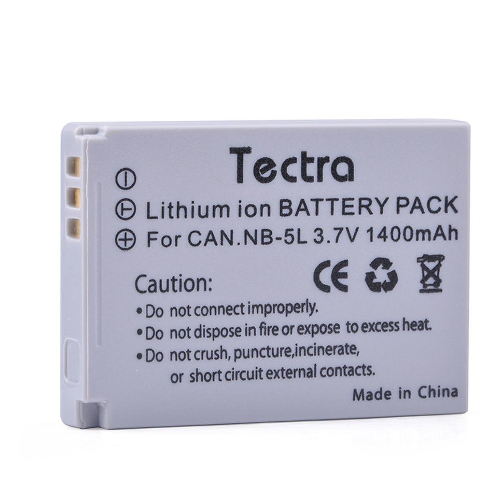 Bateria da câmera de tectra 1 pc NB-5L nb5l para canon powershot s100 s110 sd700 sd800 sd900 sd990 sx200 sx210 sx220 sx230