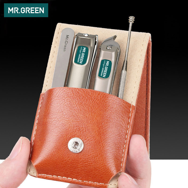 AliExpress - MR.GREEN Professional Stainless steel nail clippers set home 4 in 1 manicure tools grooming kit art portable nail personal clean