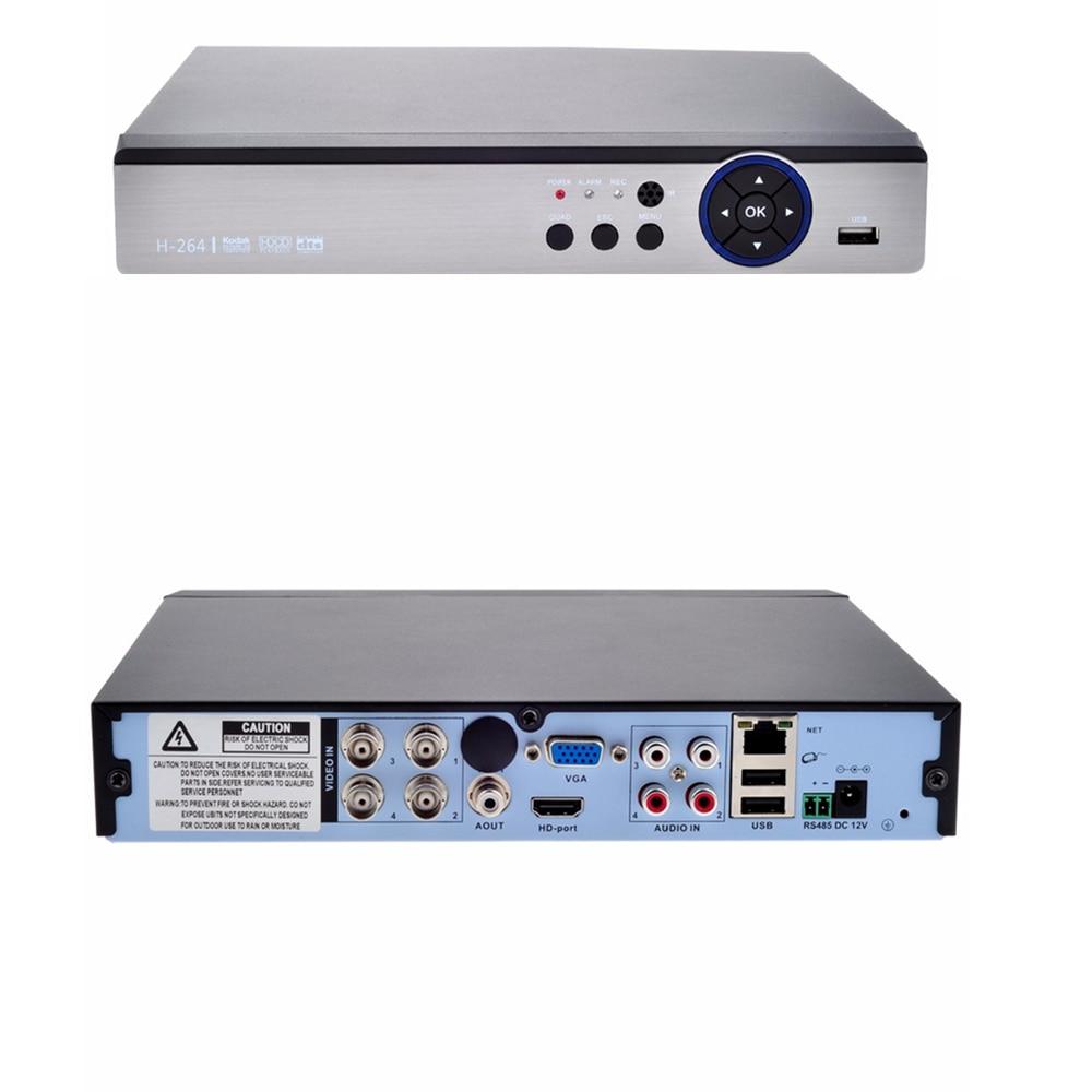 5 En 1 4CH 4MP AHD DVR híbrido NVR apoyo 4MP IP AHD CVI TVI CVBS cámara de seguridad DVR cámara de Onvif coaxial Control P2P