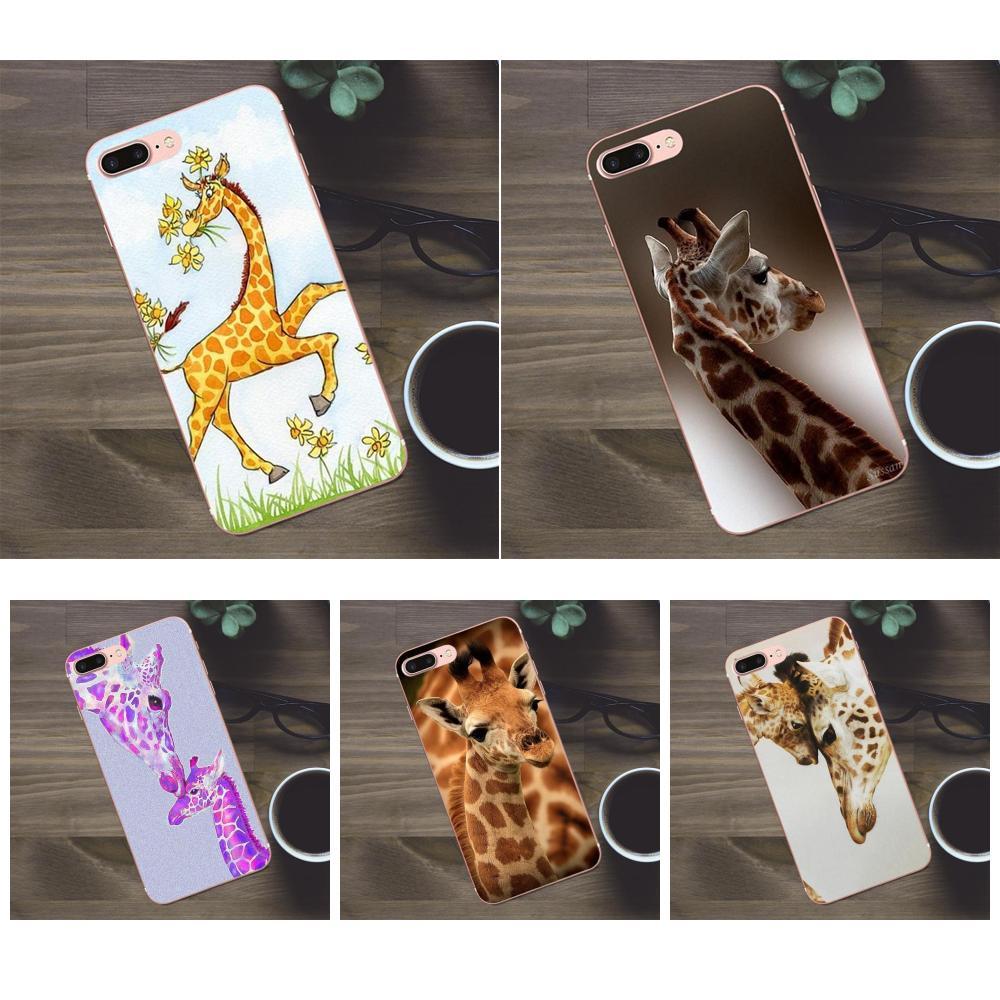 Para Huawei Honra G8 5C 5X6 6X7 8 9 Y5II Companheiro 9 P7 P8 P9 P10 p20 Lite Plus 2017 Macio Telefone Covers Caso Adorável Animal Girafas