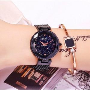 Top Brand Black Quartz Watches Women Luxury Stainless Steel Wristwatch Clock Ladies Crystal Watch Dress Watch Woman montre femme