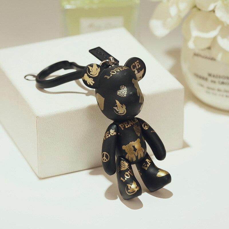 Bomgom, bolsa de llavero de plástico de vinilo de oso Gloomy Momo, bolsa de llavero, adornos, colgante, juguetes para niños, llavero de muñeca, Fo-K049-b