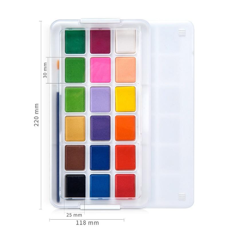 12/18/24 colores agua sólida set de pintura de color con pincel de con depósito de agua para acuarela pluma para niños pintura dibujo Manga diseño suministros de arte