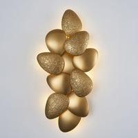 led e14 Postmodern Stainless Steel Golden Designer LED Lamp LED Light Wall lamp Wall Light Wall Sconce For Foyer Bedroom