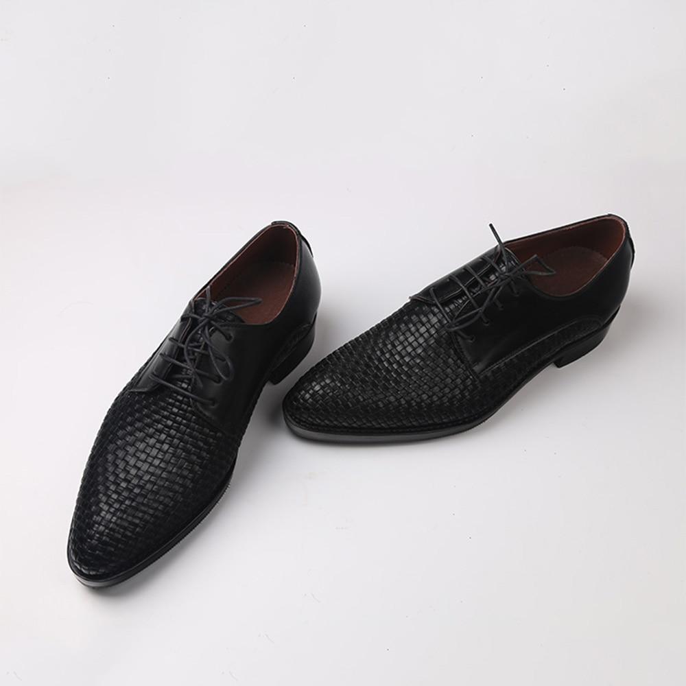 Sipriks Itlian مخصص جوديير Welted أحذية جلد طبيعي أسود المنسوجة فستان أحذية أنيقة رجالي أحذية كبيرة الحجم 46 47 48 Boss