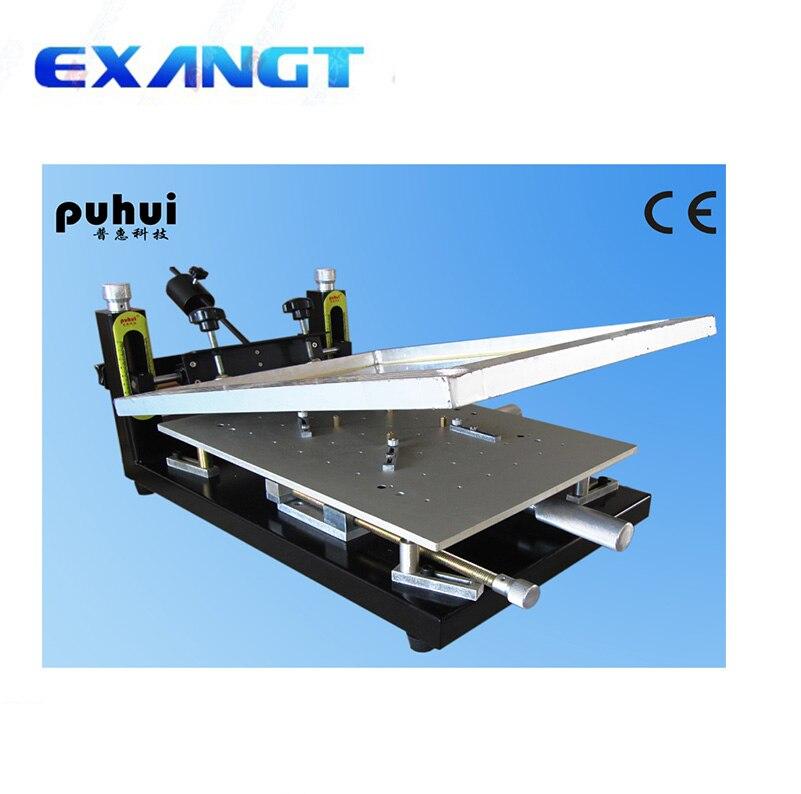 Authorized New Arrival PUHUI High Precision Printer Manual Stencil Printer machine Silk Printing Machine