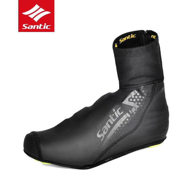 Santic de lana de invierno zapatos de Ciclismo MTB bicicleta de carretera cubierta de zapatos a prueba de viento a prueba de polvo cubierta de zapatos al aire libre de la bicicleta del chanclos