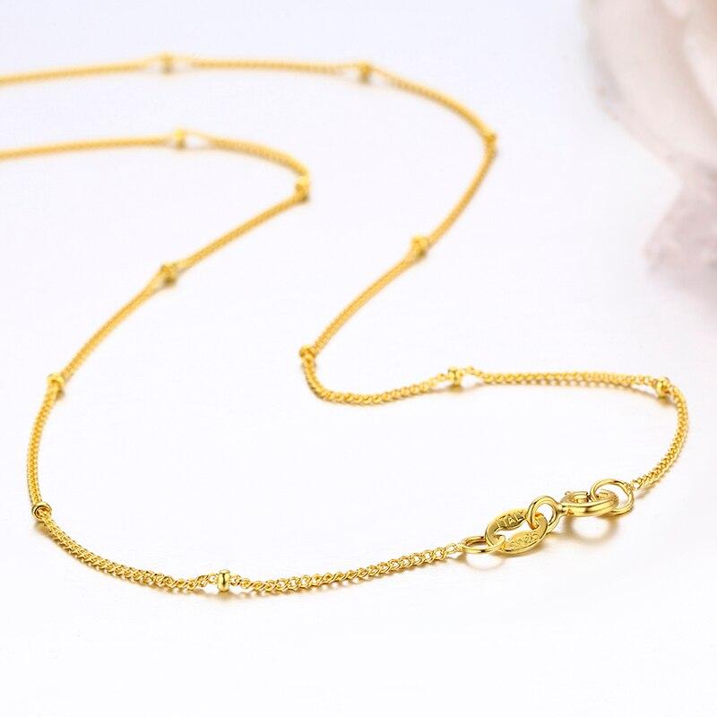35-80cm minúsculo 925 prata esterlina com cor de ouro grânulos curb corrente gargantilha colares para meninas jóias kolye colares ketting