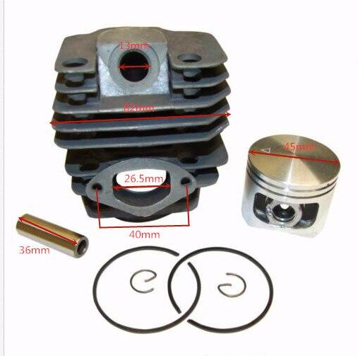 Motor Zylinder Kolben Kit 45mm Für Chinesische 5200 52cc Kettensäge Kiam Silverline