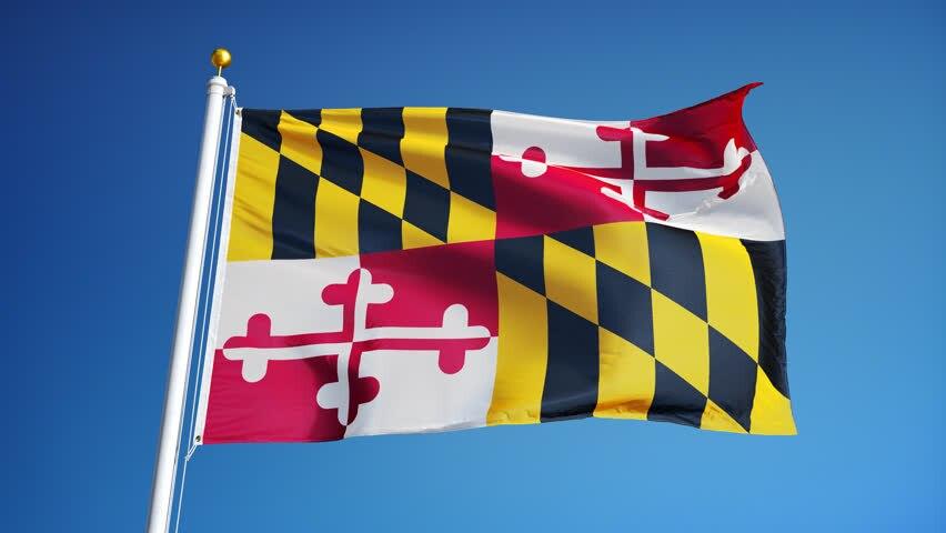 Banderas del estado de Maryland de 150x90 cm, carteles de 3x5 pies con agujeros de Metal de latón que pueden añadir más imágenes a la bandera