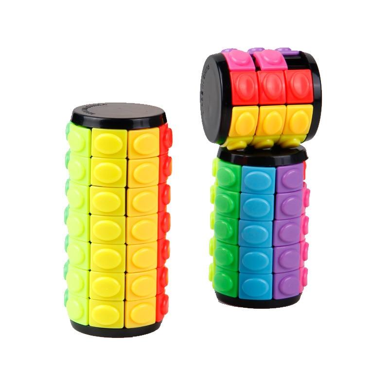 Новая 3D вращающаяся горка Вавилонская башня стресс куб головоломка игрушка куб дети взрослые цветные цилиндрические скользящие головолом...