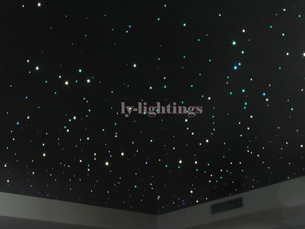 DIY optic fiber light kit led light +optical fibres RGB color change wireless control color star ceiling light 200*0.75mm*2m