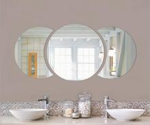 DIY 60*30 cm Große Runde Halbe Kreis Einfache Wand Spiegel Aufkleber 3d Acryl Wand Aufkleber für Wohnkultur