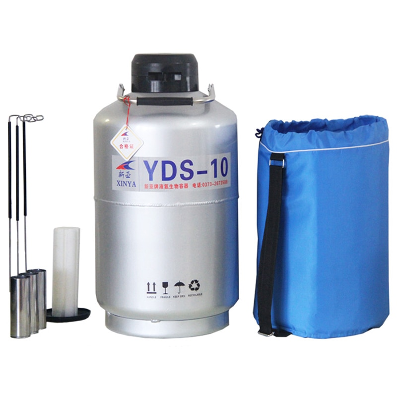 10L Liquid nitrogen container Cryogenic Tank dewar liquid nitrogen container with Liquid Nitrogen tank