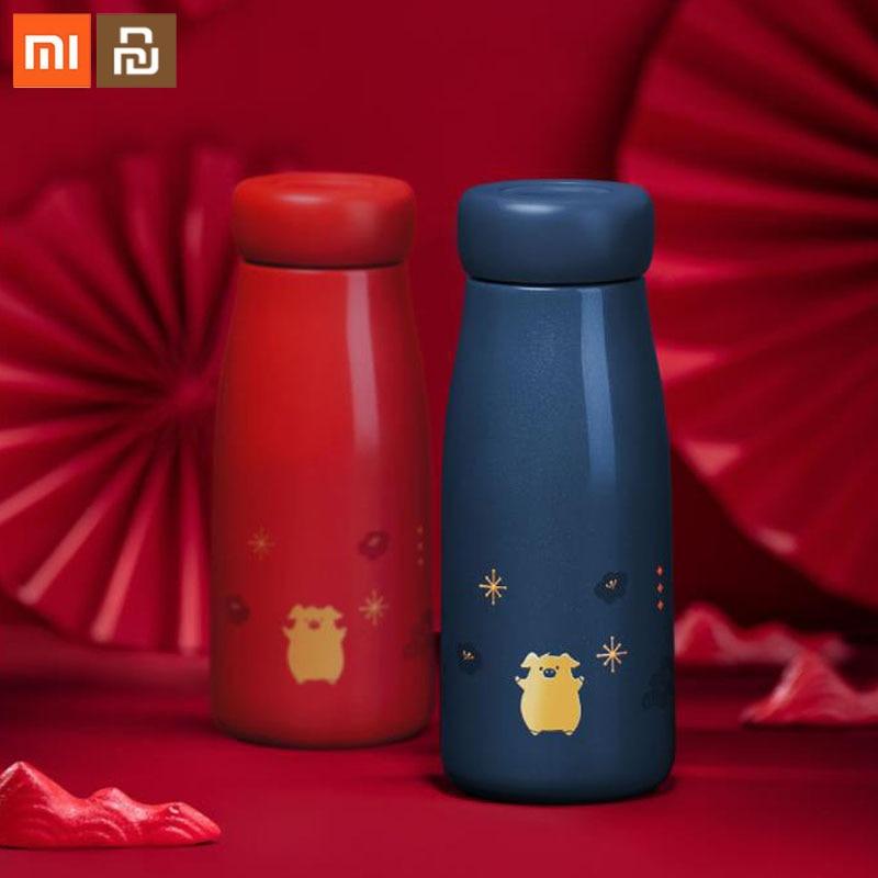 Original xiaomi mijia mug set 400mL2019 pig to cup long-term insulation imported 316 stainless steel portable cup smart mug