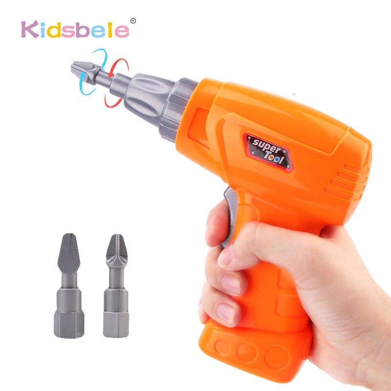 Детский пластиковый инструмент для технического обслуживания, электрическая игрушка, дрель, обучающая игрушка для мальчика, в разобранном автомобиле, сборный блок, набор инструментов