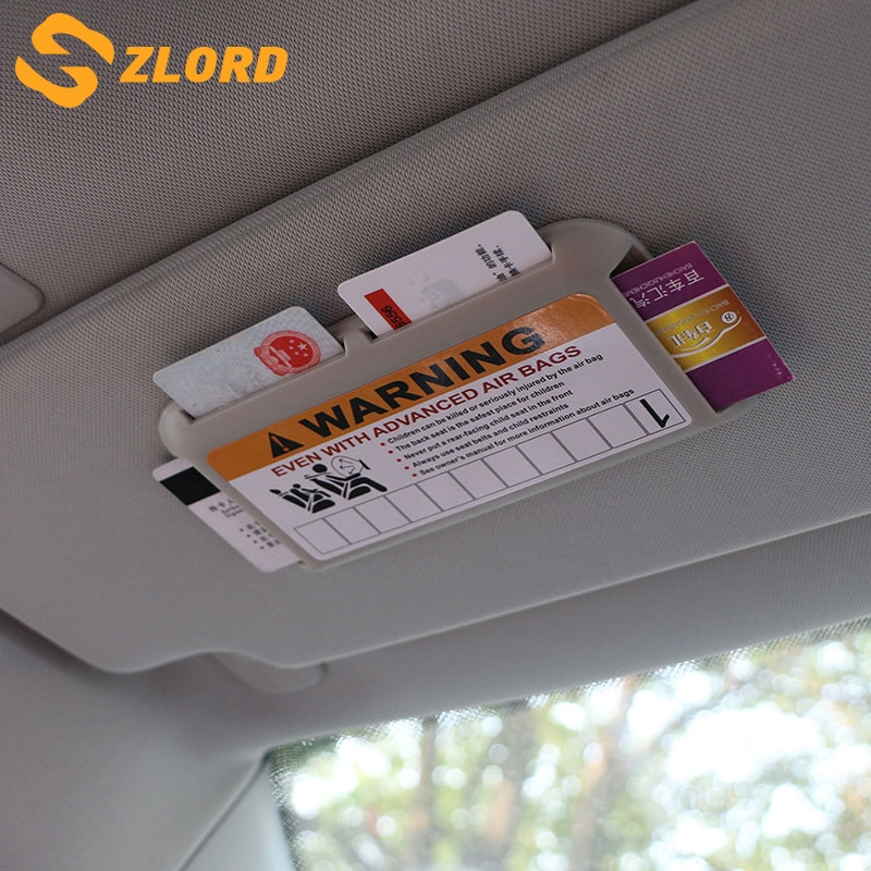 Visera de coche para tarjetas titular tarjeta de aparcamiento temporal NÚMERO DE TELÉFONO tarjeta para Volkswagen VW Jetta MK5 6 Golf 4 5 6 7 CC Tiguan