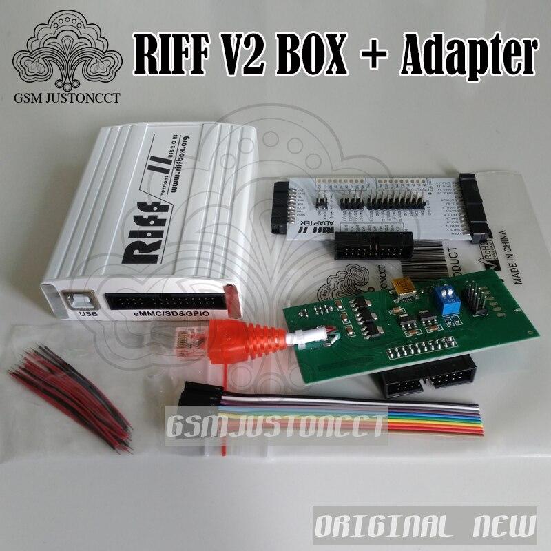 محول Riff V2 Box / riff box, شحن مجاني 2019 أصلي جديد Riff V2 صندوق/صندوق riff + محول لأجهزة LG و HTC لإصلاح هواتف Samsung المحمولة وفلاش