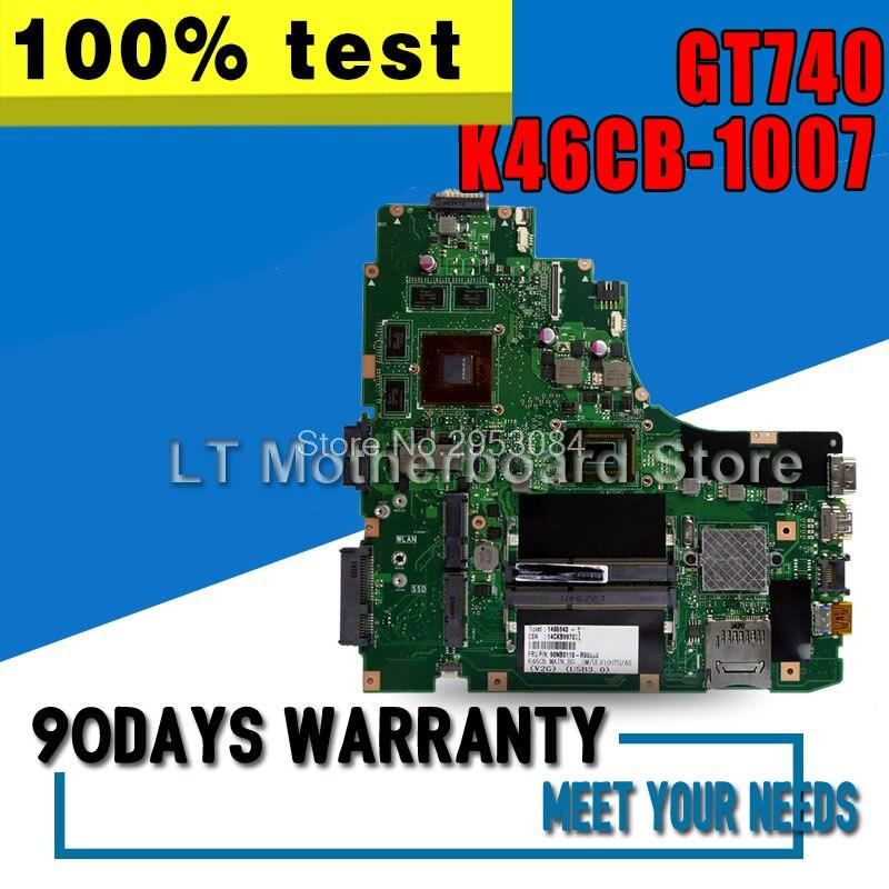 Материнская плата для ноутбука ASUS A46C S46C E46C K46CB 1007 GT740 системная плата Материнская плата логическая плата протестирована хорошо S-4