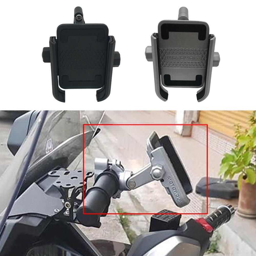 Universal Motorcycle Bike Phone Holder Clip 360 Adjustable Phone Holder Handlebar Bracket For Honda Forza Yamaha XMAX NMAX