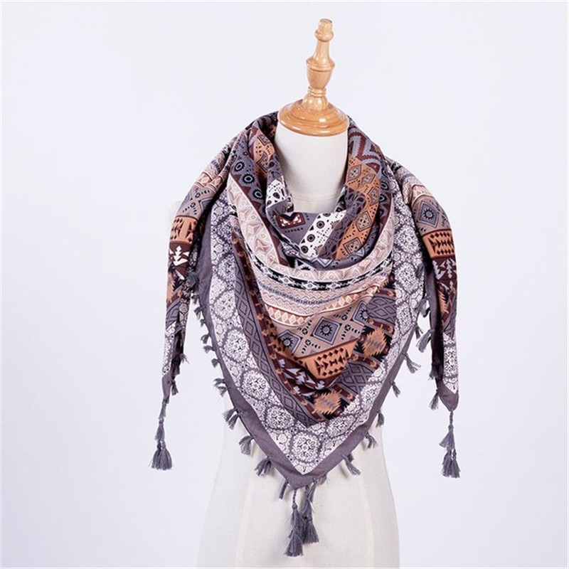Big square towel national wind characteristic female scarf elegant color department girl scarf highlights glamour.
