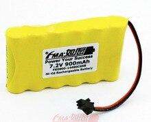 Ni-Cd AA 7,2 V 900mAh Mi-Sport 500 Batterie DIY zelle für Compex Sport3 Muscle Stimulator notfall licht w/SM2P Stecker 6SB