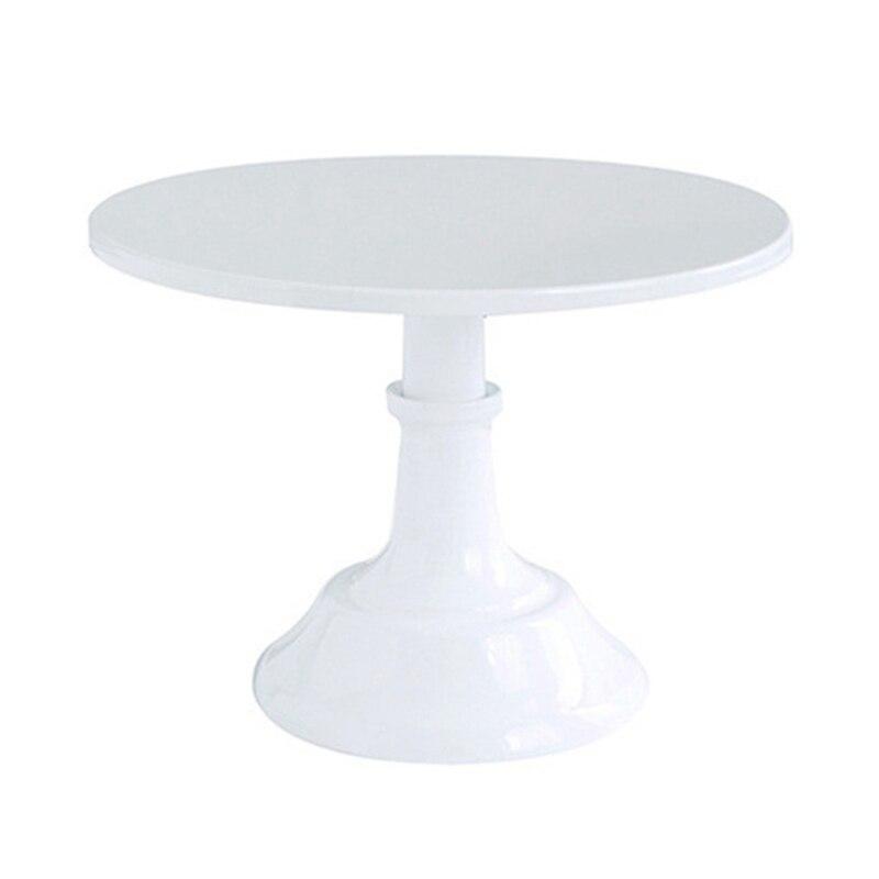 Металлическая настольная круглая подставка для десертов, демонстрационная стойка для кексов, белая посуда для украшения на день рождения, свадьбу-0