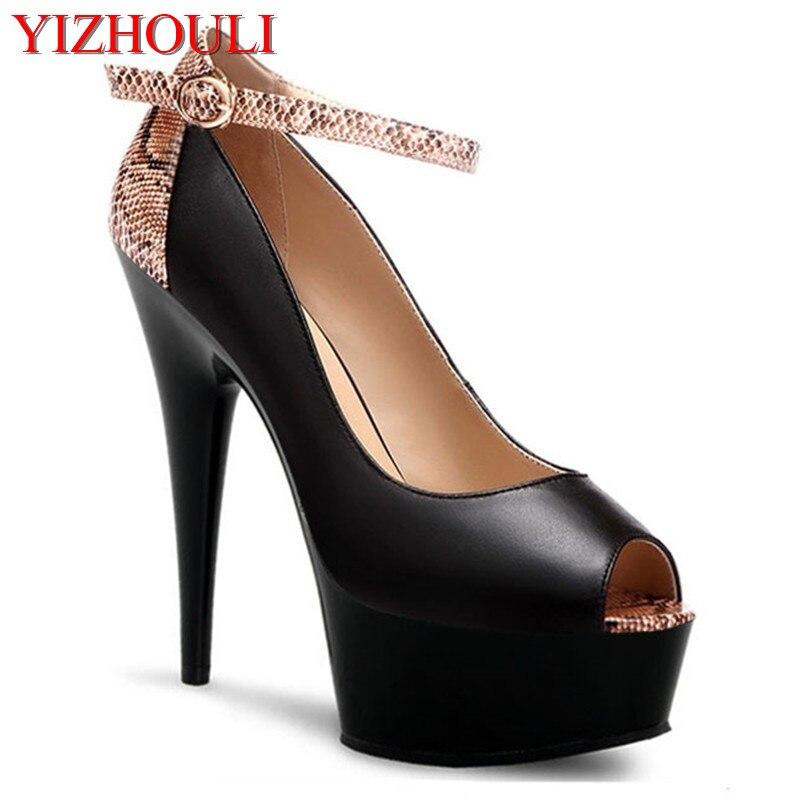15cm alto documentário sapatos falar com a princesa serpentina cor sapatos de salto alto loja de moda novo estilo