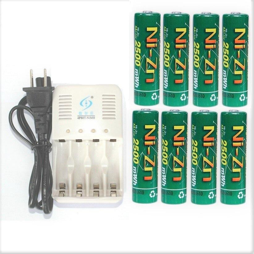 1,5 V AA Batterie 8Pcs BPI NiZn 1,6 V 2500mwh AA Akku + AA AAA batterie Ladegerät