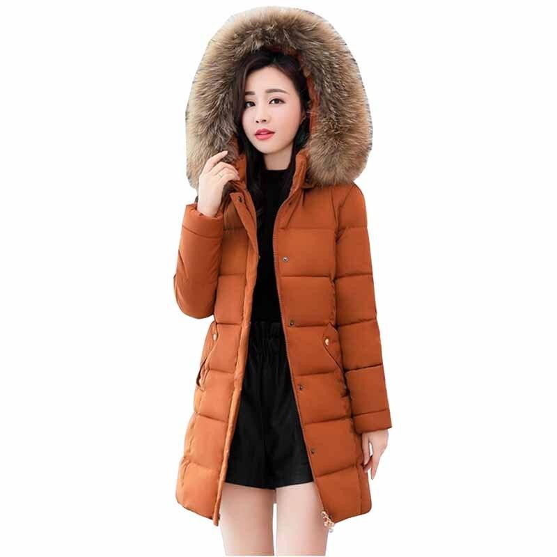 2019 chaqueta de plumón de talla grande de moda para mujer abrigo de plumón de pato blanco con Cuello de piel con capucha Parkas para mujer grueso Delgado cálido abajo abrigos G488
