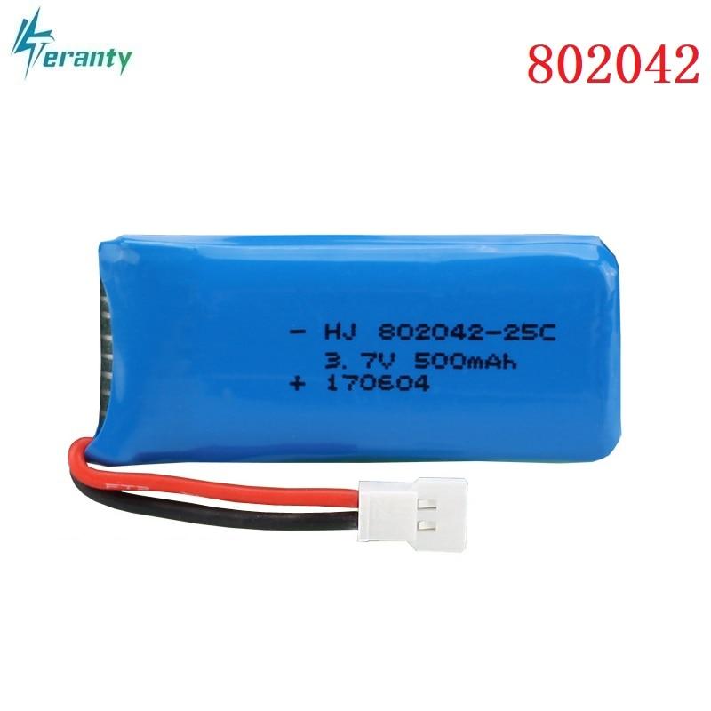 3,7 V 500mah 25c Lipo batería para Udi U816A U941 U927 H43 wifi818 JXD385 H107 V252 F186 Li-po de la batería de 3,7 V 802042