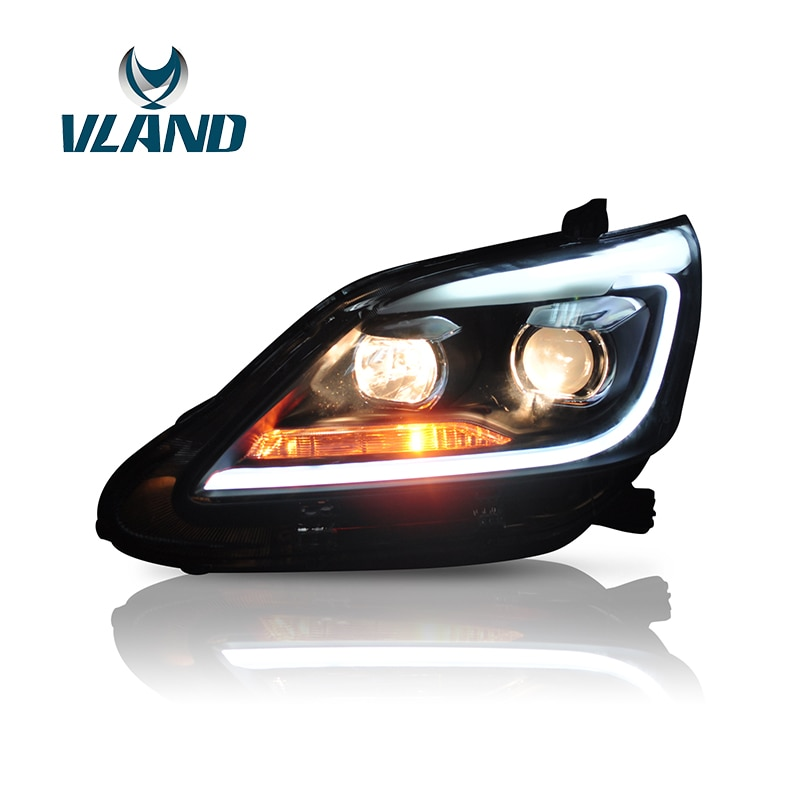 Vland Factory Car Accessories Head Light for Toyota Innova 2012-2015 LED Head Light with DRL H7 BI Xenon Lens