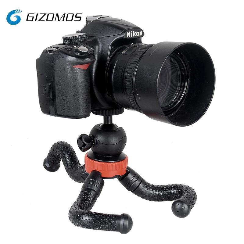 GIZOMOS, GP-03STS, Mini teléfono Flexible, soporte de sobremesa, trípode de pulpo para Smartphone, cámara sin espejo con cabezal de bola/soporte para teléfono