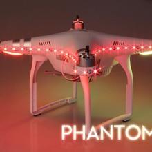 Hot Sale DJI phantom3 Wizard 3-one color optional Camera Drone accessory decorative lights with a va