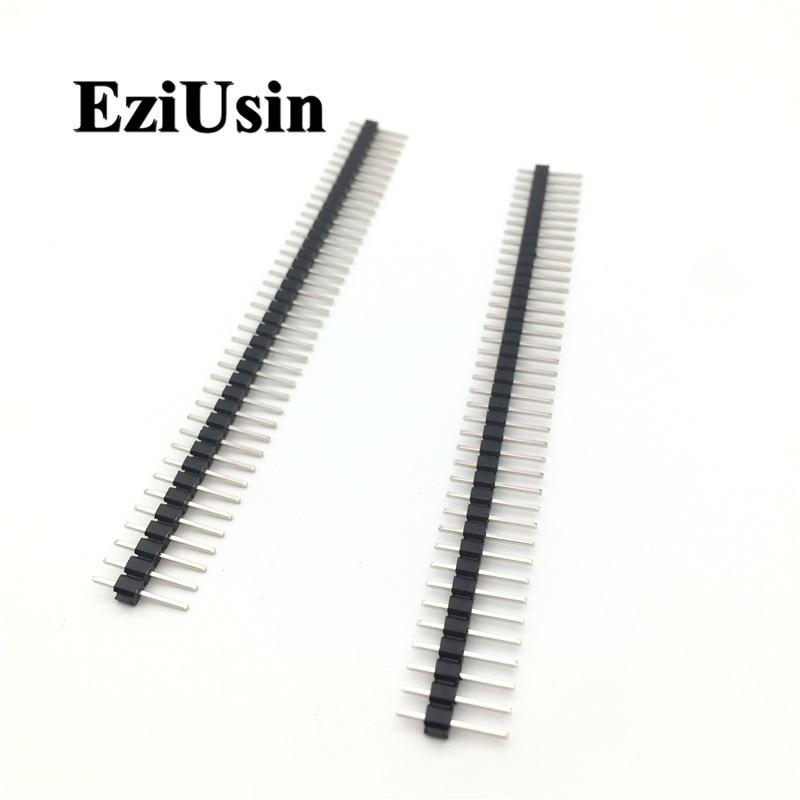 2,54 solo/aguja de doble hilera conector de pines macho 1*40p 2*40p 40 p Pinheader 40 Pin 2,54 MM para Arduino UNO Nano