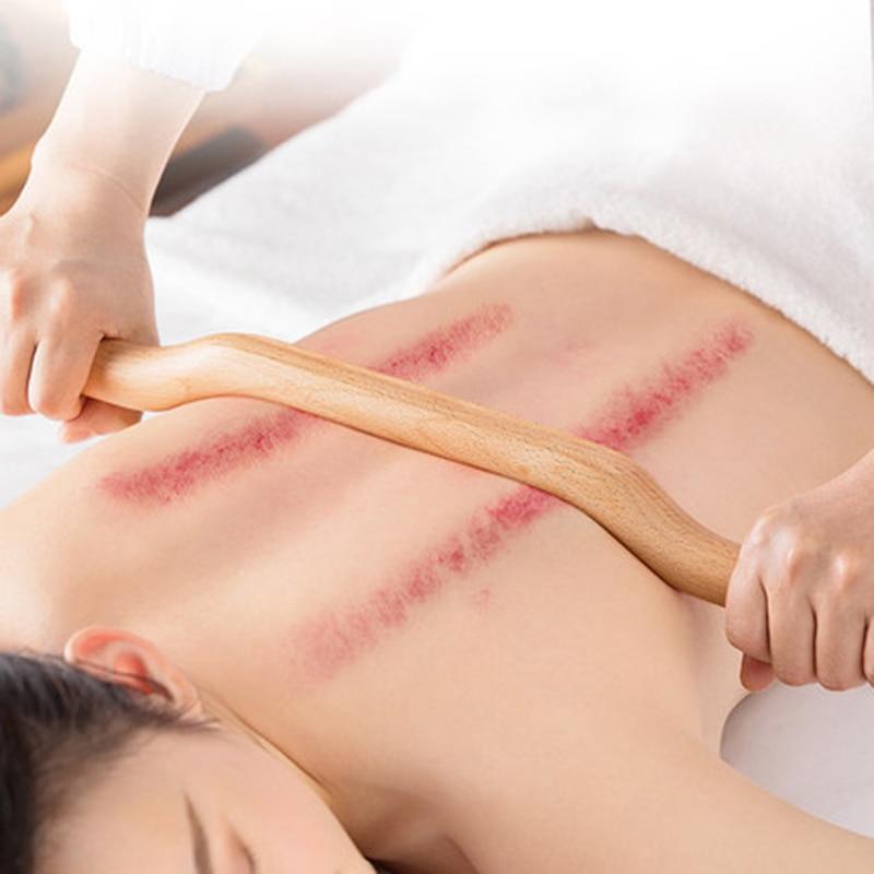 4 шт. массаж скребком гуаша палка из натурального дерева быстрая большая площадь guasha набор для спины плеча шеи талии ног массаж инструменты