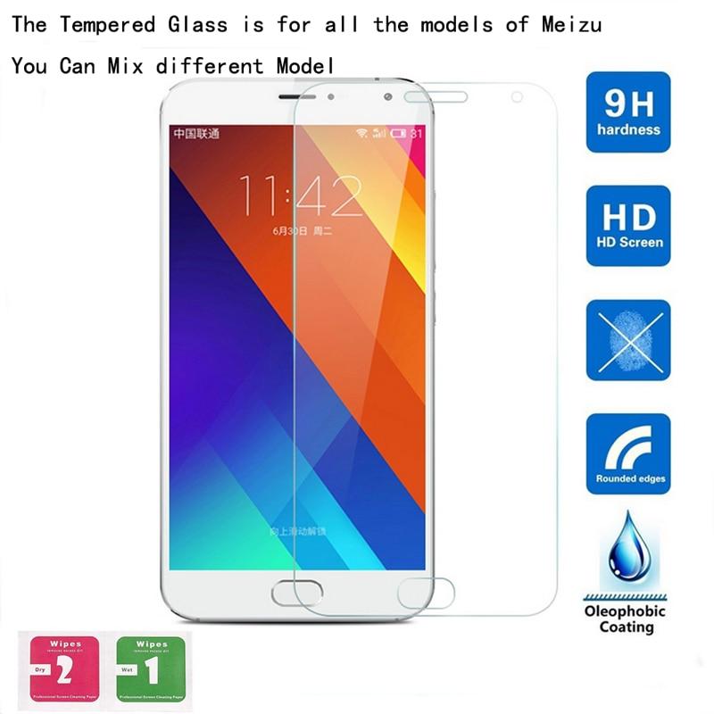 10 Uds Ultra fino templado Premium de vidrio protector de pantalla película para Meizu MX2 MX3 MX4 MX5 MX6 MX7 Pro