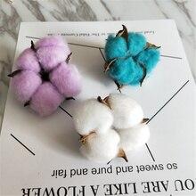 4 Pieces / Lot of Pure Natural Cotton Head Faucet Flower Bouquet Natural Dry Flower Bouquet Wedding Wreath