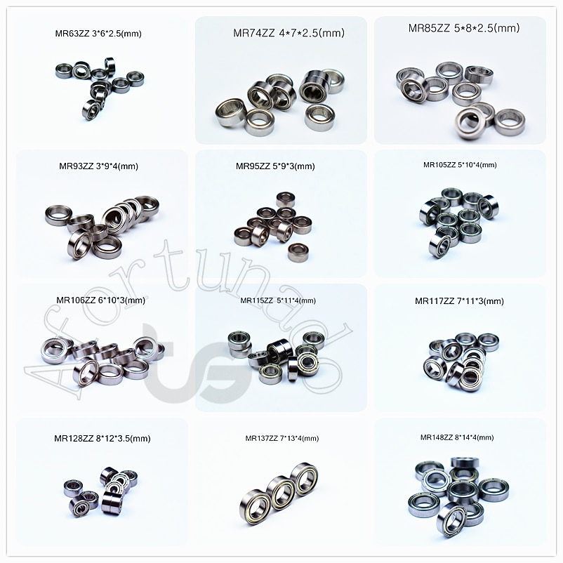 50piece-multiple-miniature-series-mr-63-74-85-93-95-105-106-115-117-126-128-137-148-zz-meatal-sealing-bearings-free-shipping
