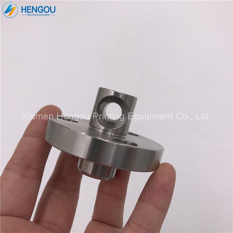 1 pieza de alta calidad offset SM74/PM74 cabeza de rodillo de agua, cabeza de eje de acero inoxidable 63.030.505 piezas de repuesto para offset SM74