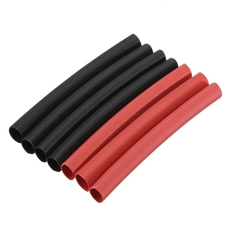 Rojo y negro 2 colores 42 Uds 2:1 poliolefina H-tipo tubo aislante termoencogible manguito surtido de envolturas de promoción-55 + 125 grados