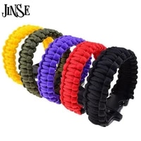 jinse outdoor camping hiking sport survival bangle cord wristbands emergency rope military emergency survival charm bracelets