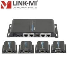 Le répartiteur 1x4 du répartiteur 60 m de HDMI de LINK-MI SPE104-POE au-dessus des affichages simples de CAT6/6a/7 prend en charge le passback dir, POE dedid 1920x1080 @ 60Hz