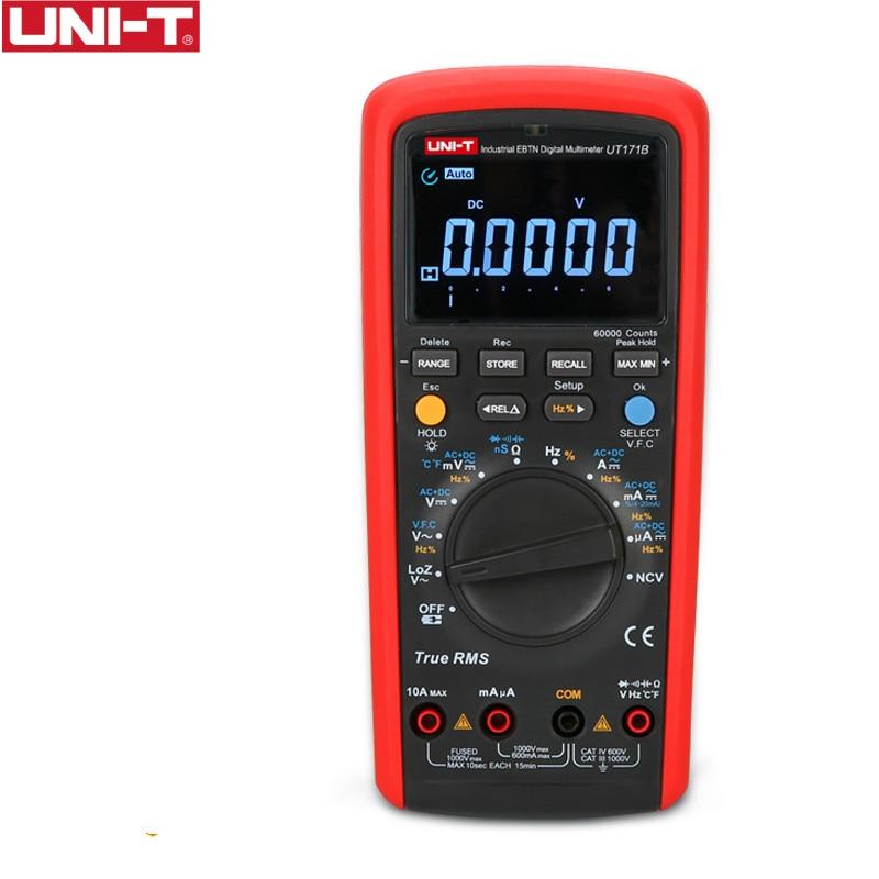 UNI-T UT171B الصناعية صحيح RMS الرقمية المتعدد القبول 60K التهم جهاز اختبار المقاومة قياس الأصلي EBTN LCD USbbB