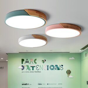 Modern LED Ceiling Light Macarons Colorful Indoor Lamp Wood Ironware Acrylic Kitchen Bedroom Foyer Decoration Lighting Fixture